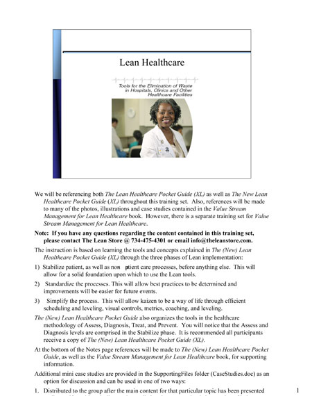 The New Lean Healthcare Training Set