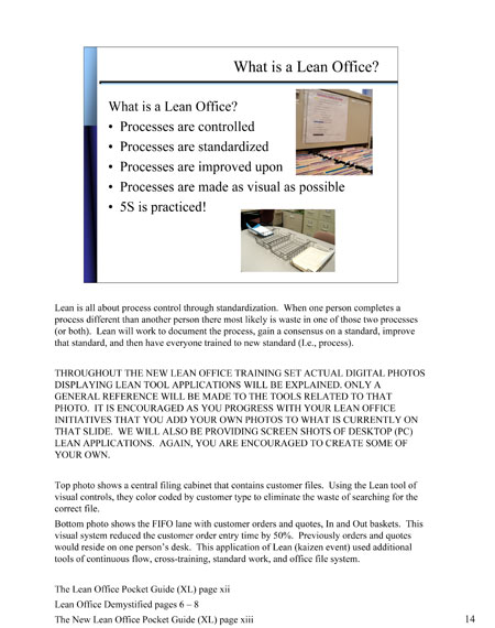 The New Lean Office Training Set