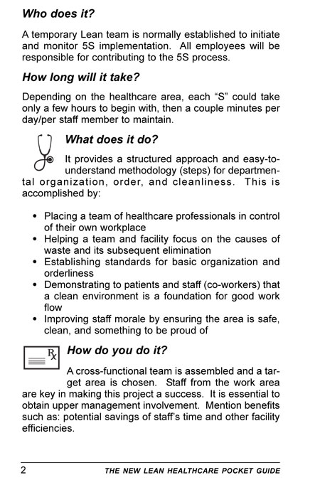 The New Lean Healthcare Pocket Guide - Tools for the Elimination of Waste