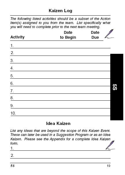The Lean Pocket Handbook for Kaizen Events